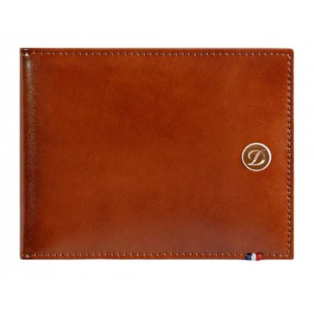 ST Dupont Line D 6 Credit Card ID Papers Brown Men's Leather Wallet