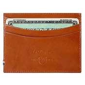 ST Dupont Line D Brown Leather Men's Multi Credit Card Wallet