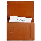 ST Dupont Line D Brown Leather Businesss Card Holder