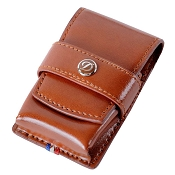 ST Dupont Line D Ligne 2 Leather Lighter Case - Brown