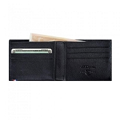 ST Dupont Line D Black Contraste Leather Men's Bifold Wallet - 6 Credit Card