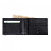ST Dupont Line D 6 Credit Card ID Papers Black Contraste Men's Leather Wallet