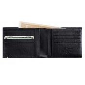 ST Dupont Line D 8 Credit Card ID Papers Black Contraste Men's Leather Wallet