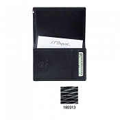 ST Dupont Line D Black Contraste Leather Businesss Card Holder