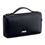 ST Dupont Line D Leather Organizer Man Purse - Black Contraste