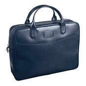 ST Dupont Line D Navy Blue Leather Document Holder Bag