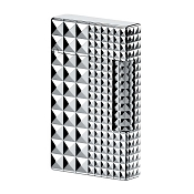 ST Dupont Ligne 2 Palladium Diamond Head 2 Sizes Lighter