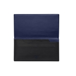 ST Dupont Line D Slim Black-Blue Leather Travel Organizer