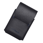 ST Dupont Line D Slim Black-Blue Leather Line 2 Lighter Case