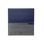 ST Dupont Line D Slim Grey-Blue Leather Travel Organizer