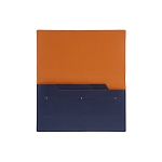 ST Dupont Line D Slim Blue-Orange Leather Travel Organizer