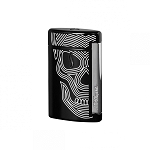 ST Dupont MiniJet Lighter - Black with White Skull
