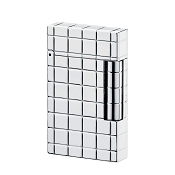 ST Dupont Ligne 2 Solid White Gold Quadrille Lighter