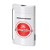 ST Dupont Rolling Stones MiniJet Lighter with Logo - White