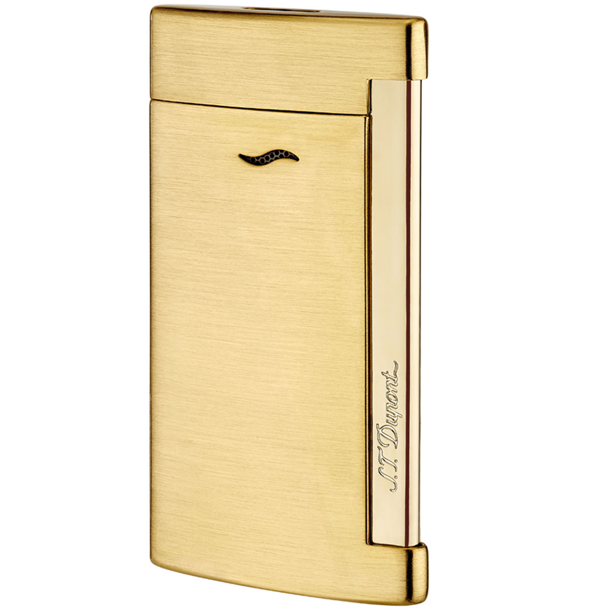 ST Dupont Slim 7 Full Golden Brushed Lighter