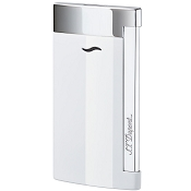 ST Dupont Slim 7 White Lacquer Chrome Finish Lighter