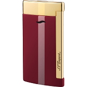 ST Dupont Slim 7 Lotus Red & Golden Finish Lighter