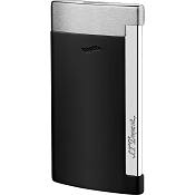 ST Dupont Slim 7 Matte Black & Brushed Chrome Finish Lighter