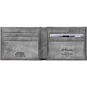 ST Dupont Star Wars 6 Credit Card Men's Leather Wallet - Silver