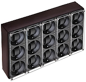 Swiss Kubik Fifteen Watch Winder - Dark Brown Calf Leather