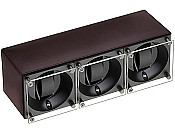 Swiss Kubik Triple Watch Winder - Dark Brown Calf Leather