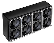 Swiss Kubik Eight Watch Winder - Black Calf Leather
