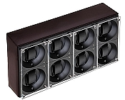 Swiss Kubik Eight Watch Winder - Dark Brown Calf Leather