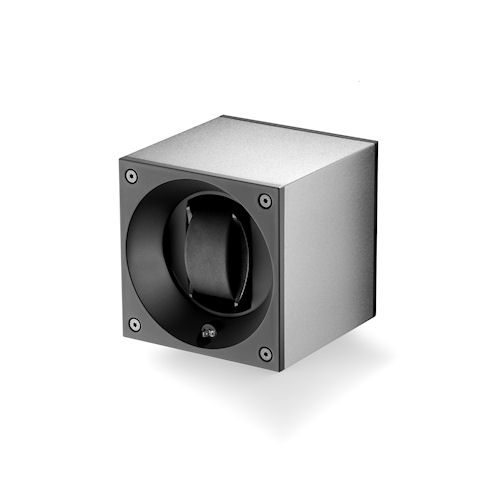 Swiss Kubik Aluminum Single Watch Winder - Silver