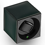 Swiss Kubik Single Watch Winder - Green Calf Leather