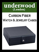 Underwood London Carbon Fiber Watch and Jewelry Boxes