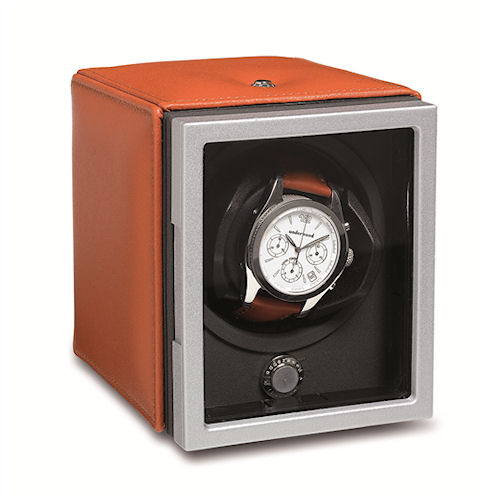 Underwood Rotobox Single Watch Winder - Leather Panels