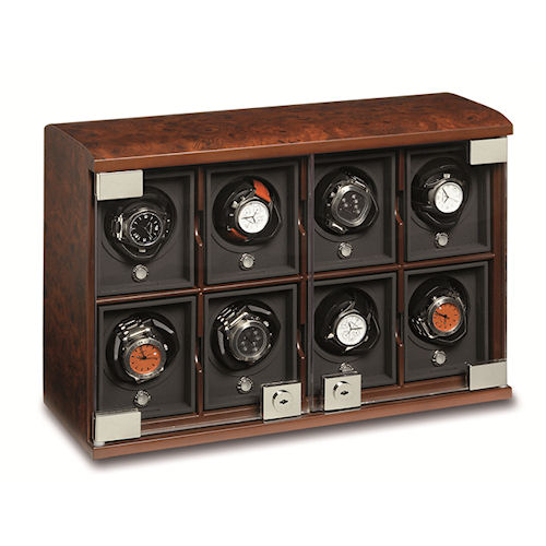 Underwood Briarwood Watch Winder - The Eight-Module Unit