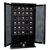 Underwood Biometric Lock Thirty-Module Watch Winder Cabinet