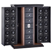 Underwood Biometric Lock Twenty-Module Watch Winder Cabinet