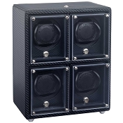 Underwood Carbon Fiber Watch Winder - Four-Module Unit