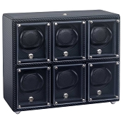 Underwood Carbon Fiber Watch Winder - Six-Module Unit