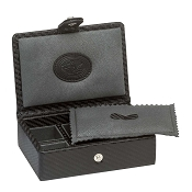 Underwood Carbon Fiber Cufflink Box - 6 Sets