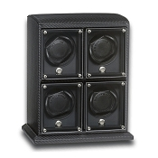 Underwood EvO Carbon Fiber Watch Winder - Four Watch Modules