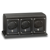 Underwood EvO Carbon Fiber Watch Winder -  Triple Watch Modules