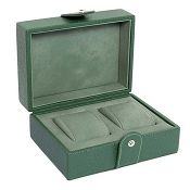 Underwood Green Leather Two Large Watch Storage Box