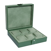 Underwood Green Leather Six Watch Storage Case