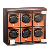 Underwood Six Module Watch Winder Unit - Macassar