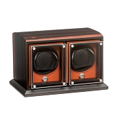 Underwood EvO Double Module Watch Winder - Macassar - Zebra Wood