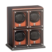 Underwood EvO Four Module Watch Winder - Macassar - Zebra Wood