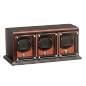 Underwood EvO Triple Module Watch Winder - Macassar - Zebra Wood