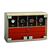 Underwood Maple Wood Watch Winder - Four-Module Unit - Watch Trays