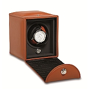 Underwood Rotobox Single Watch Winder - Handcrafted Leather Case