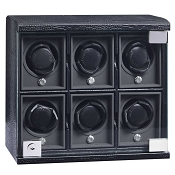Underwood Rotobox Six-Module Watch Winder in Leather
