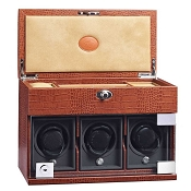 Underwood Rotobox Triple-Module Watch Winder with Jewelry Case