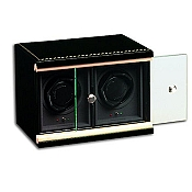 Underwood Black Lacquer Watch Winder - The Double Module Unit